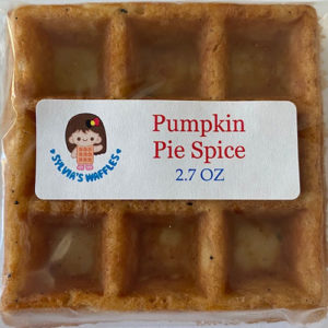 pumpkin pie spice waffle